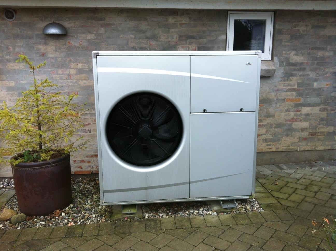 Luft-vand-varmepumpe på Nordfyn