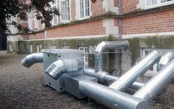 Tilslutning af varmeflade for nyt ventilationsanlæg på Østruplund Slot